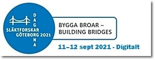 Släktforskardagarna 2021 i Göteborg 11-12 sept