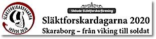 Släktforskardagarna 2020 i Skövde